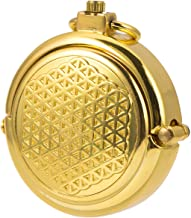 ManChDa Men's Vintage Archaize Bronze Hide Carved Steampunk Chain Mechanical Pocket Watch in Gift Box