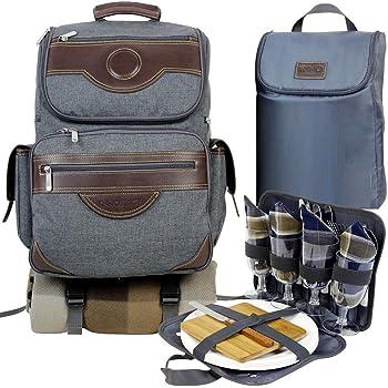 Bolsa de picnic para 4 personas con compartimento isot/érmico integrado Oztrail MurrayOCP-PSMUR-D Murray 4 Person Picnic Set set de picnic, Oztrail