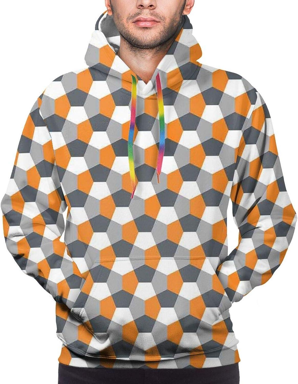 Men's Hoodies Sweatshirts,Modern Roses with Minimalist Sketchy Lines Stripes Pastel Image Illustration