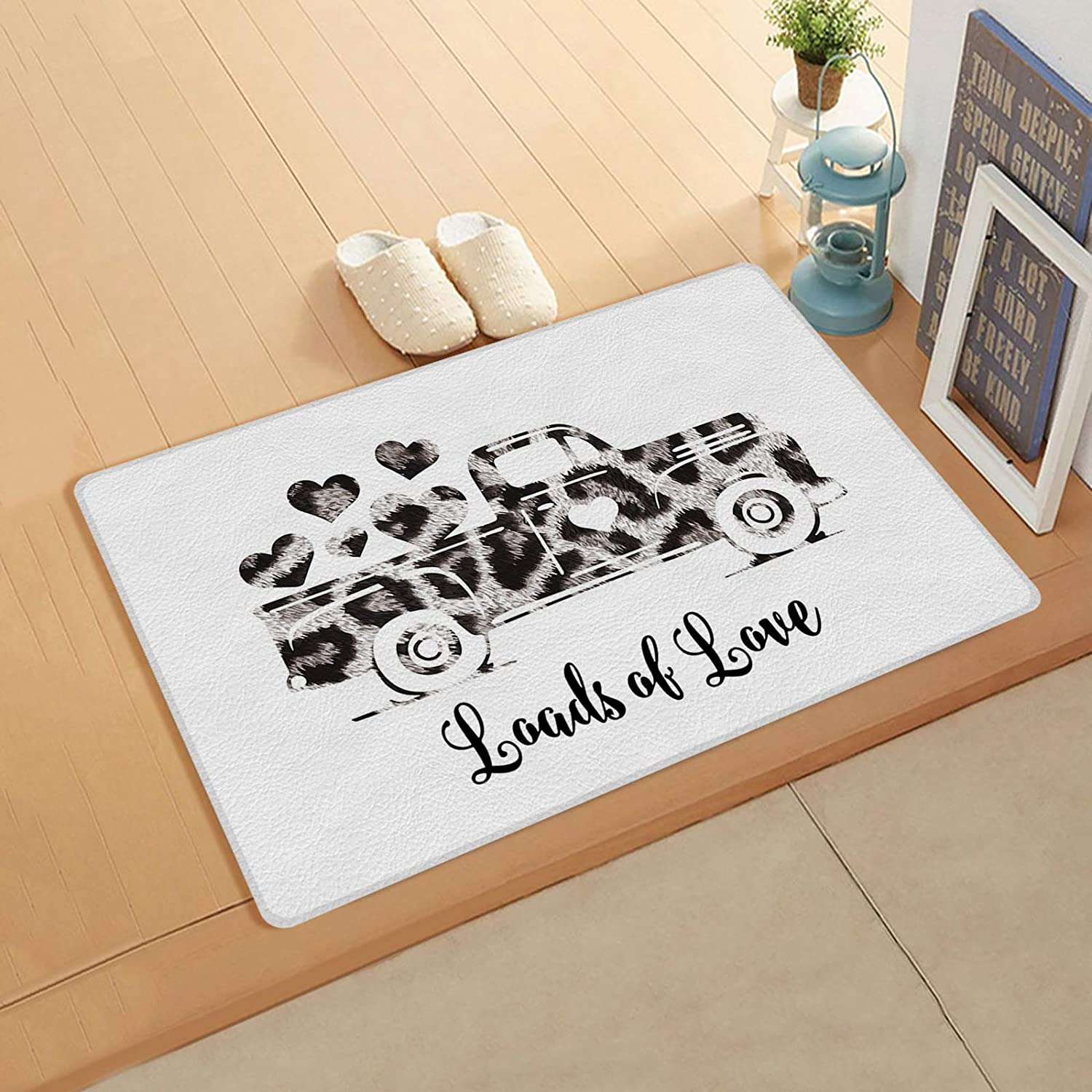 Valentine's Day Ultra-Cheap Deals Doormat Leopard Plaid Truck Love and Manufacturer direct delivery PVC L Heart