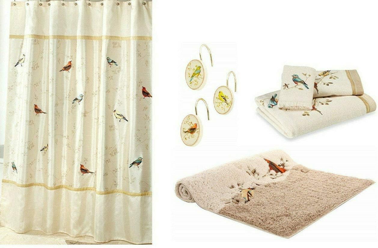 Soldering Avanti Linens Gilded Birds Shower 12 Boston Mall Hooks Curtain Bath