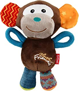 Gigwi Plush Friends Multi Colour Monkey Squeaker