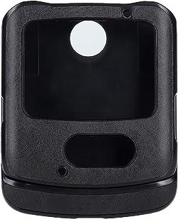 YHUISEN Premium Solid Color Classic PU Leather Case Cover for Motorola Razr 5G 2020 (6.2 inches) (Color : Black)