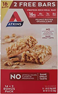 Atkins Peanut Butter Granola Bars (16Count Net Wt 27.1 Oz),