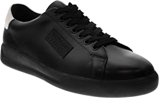 Jeans Couture Black Leather Brad Fashion Sneakers- for Mens