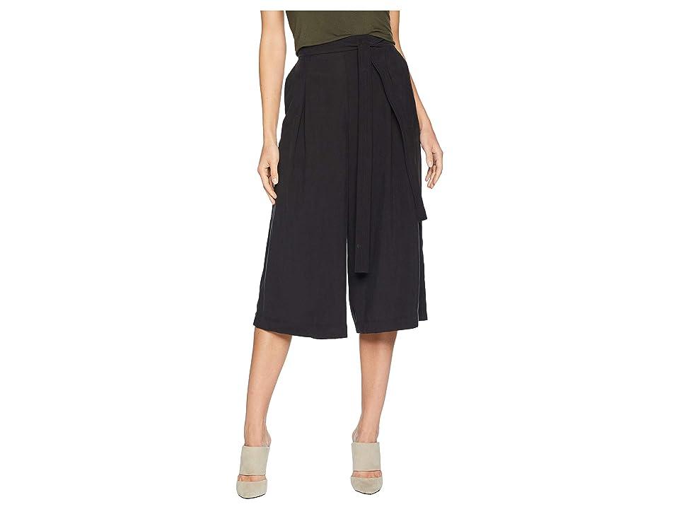 BCBGMAXAZRIA Self Belted Culotte Pants (Black) Women