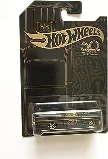 Hot Wheels 2018 50th Anniversary Black & Gold Series 1/64 Scale Diecast Model Car ('65 Ford Ranchero)