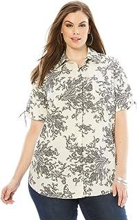 ead7fa0d2e086 Amazon.com  Roamans - Blouses   Button-Down Shirts   Tops   Tees ...