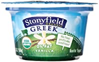 Stonyfield Organic, Fat Free Vanilla Greek Yogurt, 5.3 oz