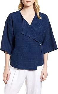 Eileen Fisher Womens Draped 3/4 Sleeves Jacket