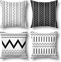 wyooxoo Boho أغطية وسائد 18 × 18 مجموعة من 4 أغطية وسائد رمي هندسية للزينة في الهواء الطلق أريكة وسادة أغطية للأريكة غرفة ...