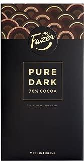 2 Bars x 95g of Fazer Pure Original Finnish Dark Chocolate 70% Cocoa (Suomi)