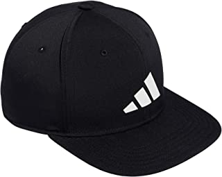 Men's Three Bar Structured Snapback Adjustable Fit Cap