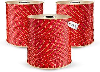 10m POLYPROPYLENSEIL 3mm ROT Polypropylen Seil Tauwerk PP Flechtleine Textilseil Reepschnur Leine Schnur Festmacher Rope Kunststoffseil Polyseil geflochten