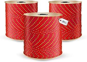 DQ-PP | Polypropyleen touw | Diameter: 10 millimeter | Lengte: 30 meter | Kleur: rood | plastic koord | gevlochten textiel...