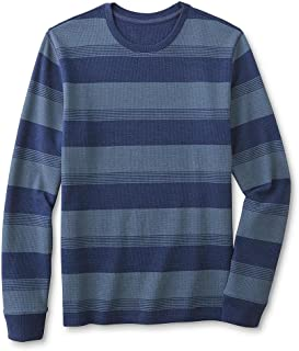 Roebuck & Co. Young Men's Thermal T-Shirt - Striped Size Medium