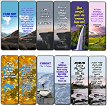 Powerful Bible Verses Bookmarks - God is in Control (60 Pack) - Perfect Giveaways for Sunday School and Ministries Designed to Inspire Women and Men