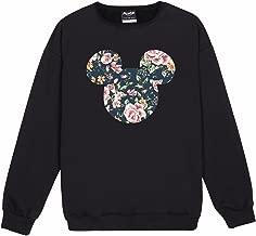 Minga London Mickey Floral Sweater Top Women's Fun Tumblr Indie