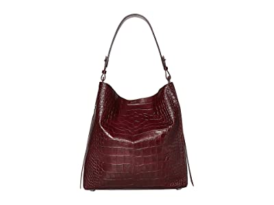 AllSaints Polly North/South Tote (Bordeaux) Handbags