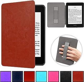 Case com suporte p Mãos Novo Kindle Paperwhite à prova d'água Função Liga/Desliga (Marron)