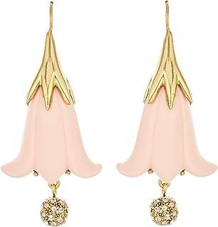 Oscar de la Renta Resin Flower & Pavé Ball Earrings
