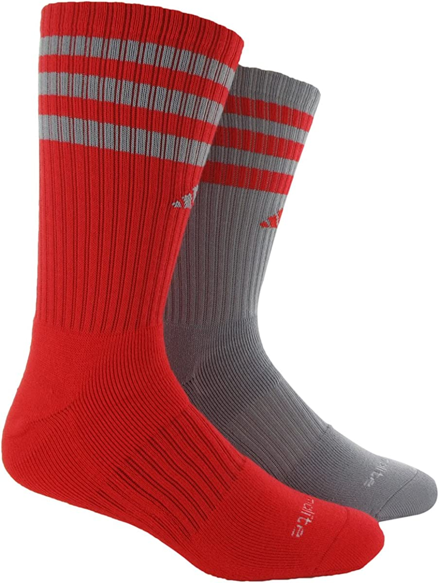 adidas Youth Team Crew Sock We OFFer at cheap prices 2-Pair Red Mid Mediu Grey Hi-Res Gifts