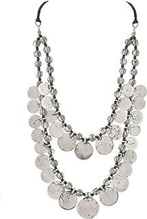 Zephyrr Jewellery Handmade Turkish Coin Gypsy Bib Necklace for Women