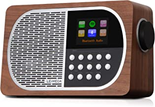 LEMEGA M2+ Smart Internet Radio,Table Radio,FM Radio,Bluetooth, WiFi,Spotify Connect,Wooden Box,Headphones-Out,AUX-in,USB ...