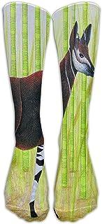 Hunter qiang, Okapi - Calcetines largos unisex con protección de jirafas (50 cm)
