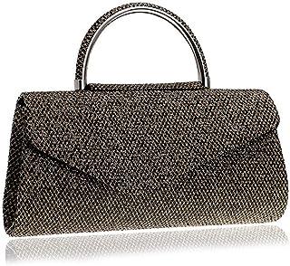 DIEBELLAU Women's Handbag Luxury Wedding Banquet Evening Bag Casual Shoulder Bag Clutch Bag (Color : Brown, Size : XS)