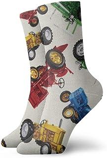 yting, Niños Niñas Locos Divertidos Tractores Vintage Calcetines de coches Calcetines lindos del vestido de la novedad