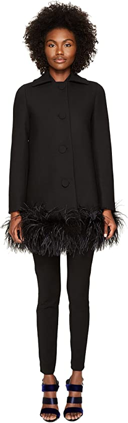 Boutique Moschino - Maribou Trim Coat