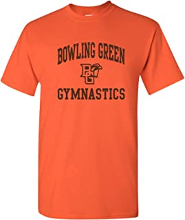 AS1099 - BGSU Falcons Arch Logo Gymnastics T Shirt - Small - Orange