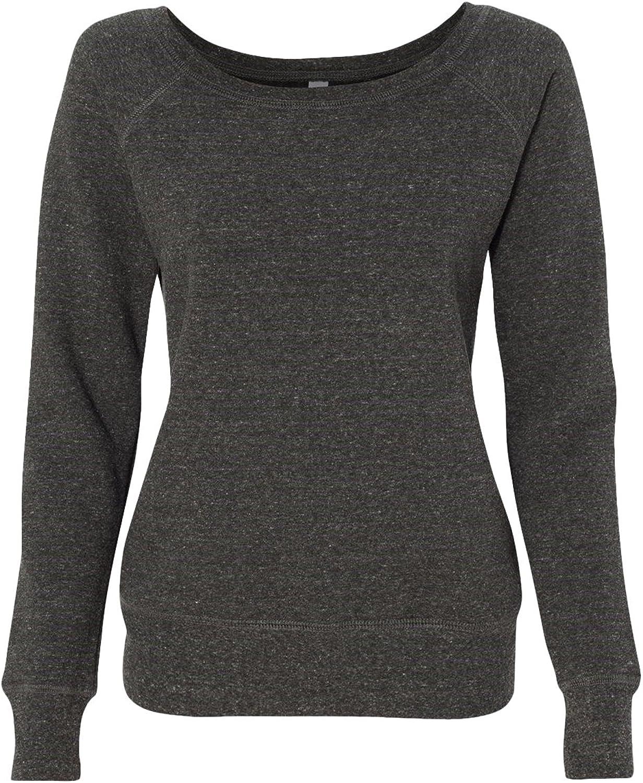 Bella Canvas Women's Sponge Wideneck Fleece Sweatshirt