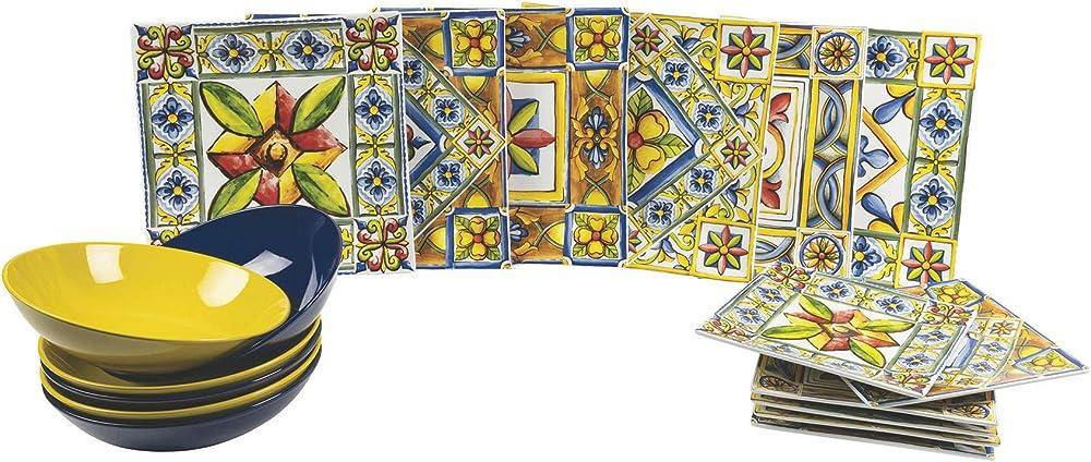 Villa d`este , servizio piatti 18 pezzi in porcellana e gres 188204