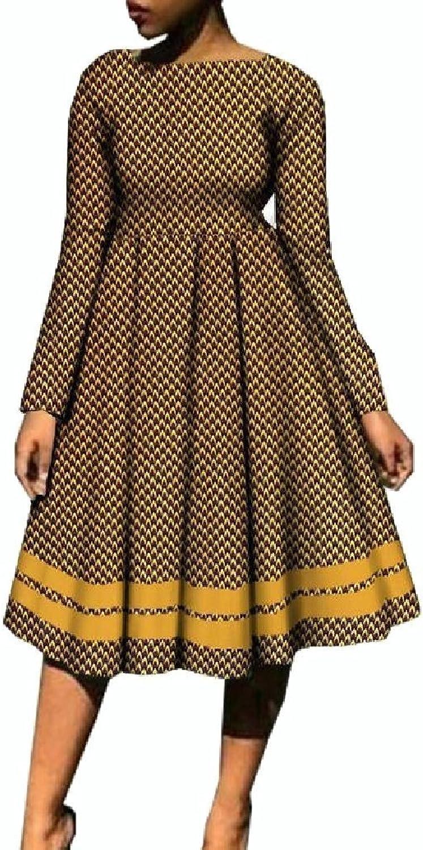 SportsX Women Dashiki ALine Big Pendulum Africa Plus Size Party Dress