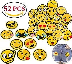 Niedliches Cartoon-lächelndes Gesicht gestickte Aufnäher für Kleidung DIY