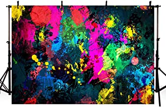 MEHOFOTO Graffiti Painting Photo Booth Backdrop Banner Abstract Art Neon Glowing Party Decorations Studio Photography Background Props 8x6ft