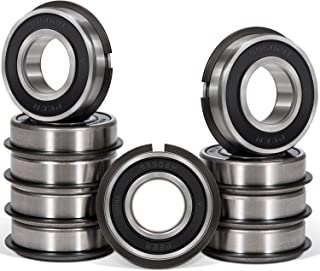 10 Pcs 99502HNR Ball Bearing Rubber Sealed Deep Groove Bearing with Snap Ring for Lawn Mower, Go Karts, Mini Bikes, etc