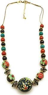 DCA Multicolor Wood Women Necklace (4133)