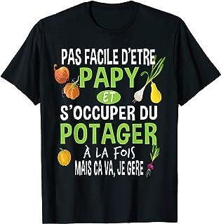 Homme Papy Potager Jardinage Jardinier Grand-père Légume Cadeau T-Shirt