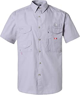 Alimens & Gentle Short Sleeve Wicking Fabric Sun Protection Fishing Casual Shirts