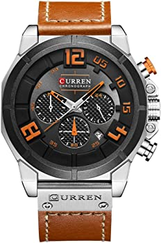 CURREN Multifunctional Military Sport Mens Leather Watch