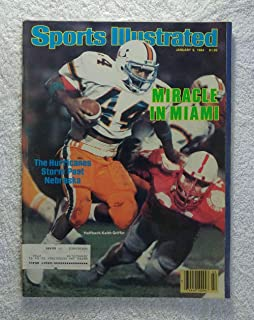 1983 Miami Hurricanes Nebraska Cornhuskers ESPN Poster Rare Orange Bowl