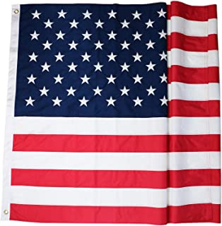 DLORY 5x8 FT American Flag Deluxe Long Lasting Outdoor US Flag Fade Resistant Embroidered Stars and Sewn Stripes USA Flag
