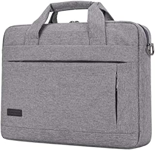 Djyyh Large Capacity Laptop Handbag for Men & Women Travel Briefcase Bussiness Notebook Bag (Color : Gray, Size : 15inch)