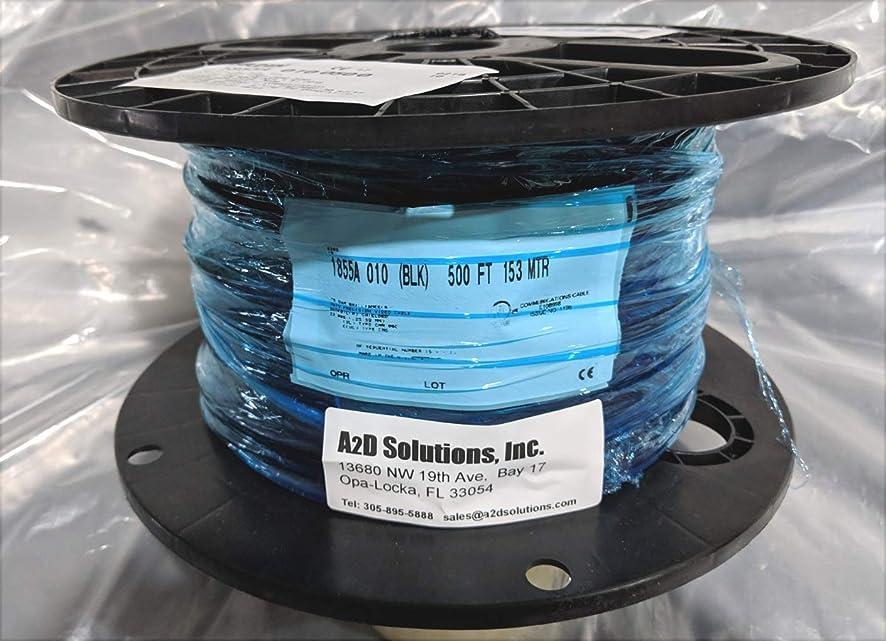 インタビューコモランマ浸食Belden 1855A ブラック - 23 AWG ソリッドデジタル同軸ケーブル 500フィート