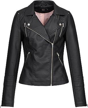 ONLY Onlgemma Faux Leather Biker OTW Noos Jacket Femme
