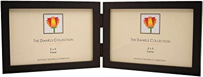 The Original DANIELS W41 GALLERY WOODS classic horizontal Black hinged double 6x4 frame by Dennis Daniels&re