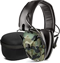 awesafe Electronic Shooting Earmuff, Noise Reduction Sound Amplification Electronic Safety Ear Muffs and Storage Case, Camo …